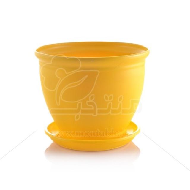 گلدان پلاستیکی مدل 3015 ارتفاع 12 سانتیمتر