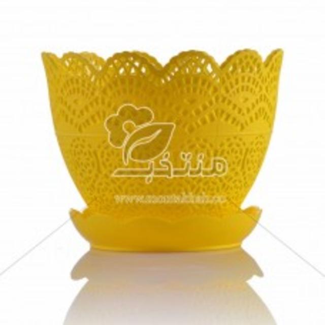 گلدان پلاستیکی طرح برجسته 7.5 سانتی متری (سایز کوچک)