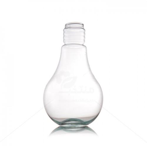 گلدان شیشه ای طرح لامپ ارتفاع 24 سانتی متر