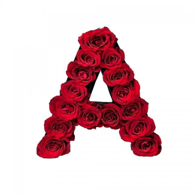 باکس گل حروف A