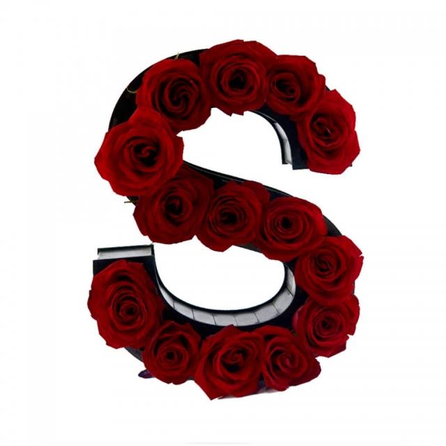 باکس گل حروف S
