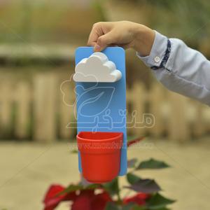 گلدان پلاستیکی طرح بارانی ارتفاع 25 سانتی متر