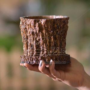 گلدان پلی استر طرح تنه درختی 11 سانتی