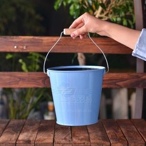گلدان فلزی سطلی ارتفاع 19 سانتی متر