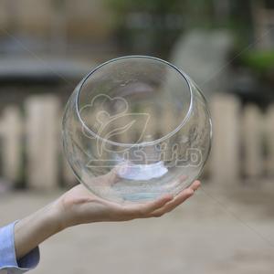 گلدان شیشه ای زیر صاف (مورب) ارتفاع 18 سانت (سایز 2)