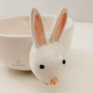 گلدان سرامیکی طرح خرگوش