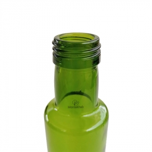 گلدان شیشه ای بطری سبز ارتفاع 20 سانتی متر