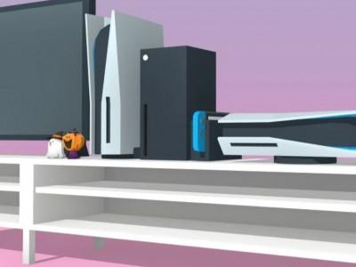 تصاویر گرافیکی از مقایسه سایز کنسول ایکس باکس سری ایکس و PS5