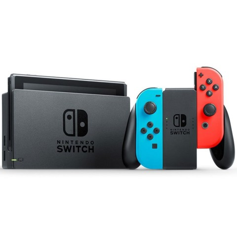 Nintendo Switch with Neon Blue and Neon Red Joy-Con - New Series