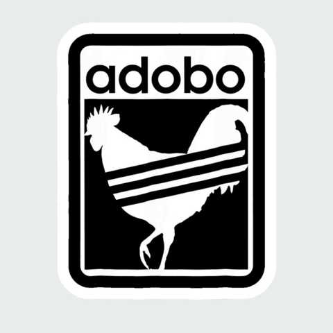 sticker adidas chicken