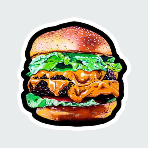 sticker Burger