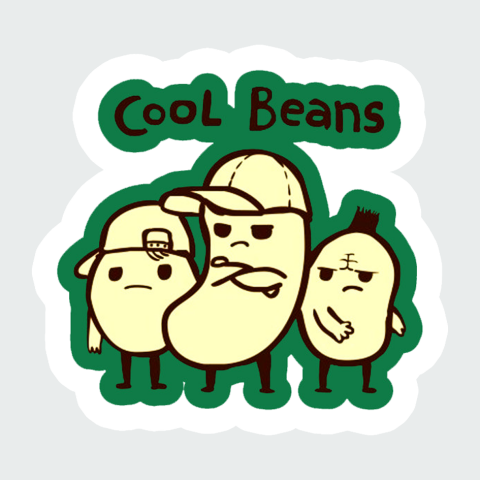sticker Cool Beans