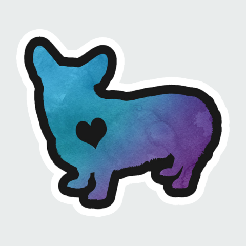 sticker Love Dog