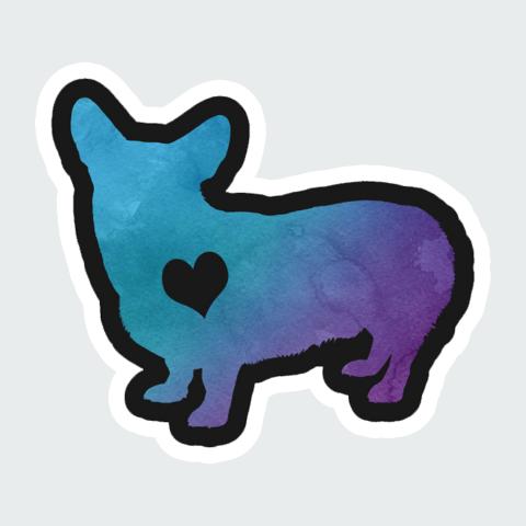 sticker Love Dog
