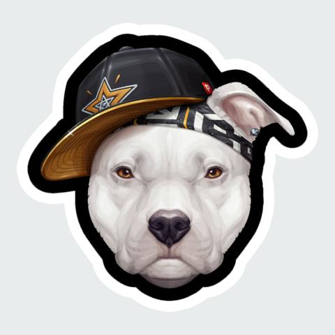 sticker raper dog