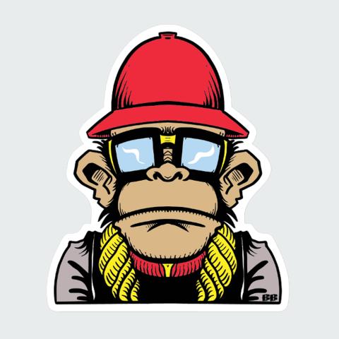 sticker Monky