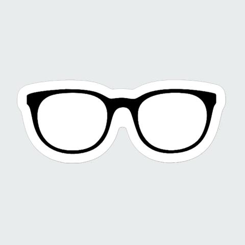 sticker glassess