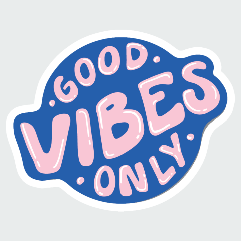 sticker Good Vibes