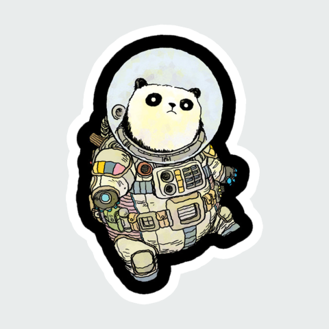 Stickers Space Panda