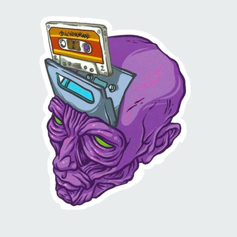 Stickers Skull Tape