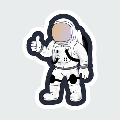 Stickers Space men