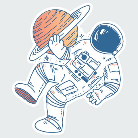 Stickers Space men2