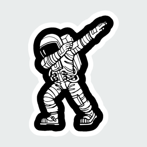 Stickers Space men3