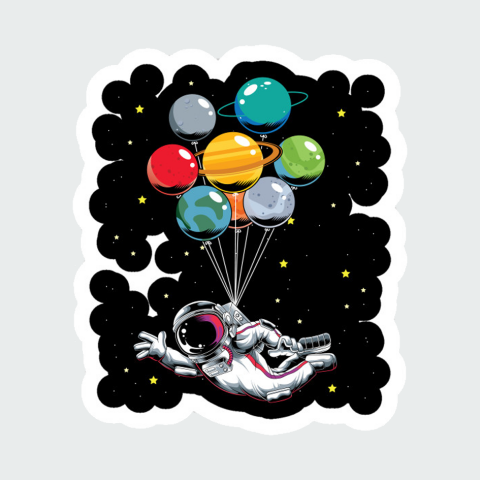 Stickers Space men4