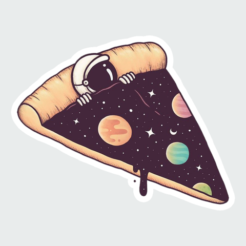 Stickers Space PIzza