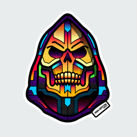 Stickers Skull Color