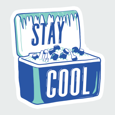 Stickers Stay Cool