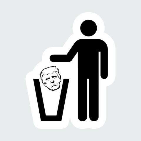 Sticker trump Recy
