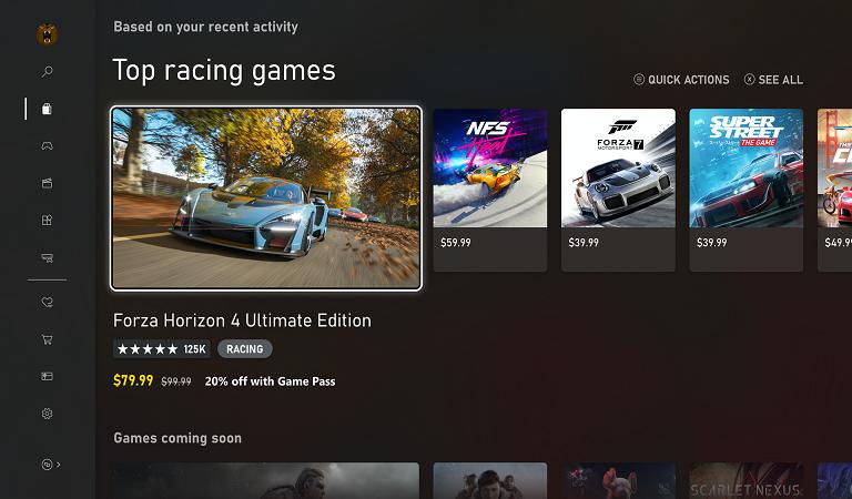 ظاهر جدید داشبورد PC ، Xbox One و Xbox Series X