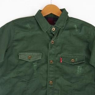 پیراهن کتان دو جیب1400