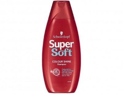 شامپو موی رنگ شده شوارزکف سوپر سافت Supersoft Color Shine حجم 400 میل
