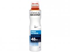 اسپری ضد تعریق مردانه لورآل سری Men Expert مدل Fresh Extreme حجم 250 میلی لیتر