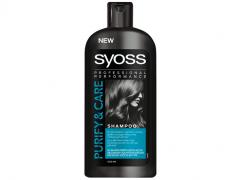 شامپو پاک کننده موی چرب سایوس مدل syoss pure & care حجم 500 میل