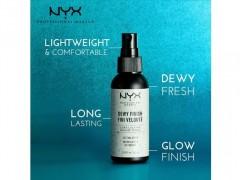 اسپری فیکساتور نیکس مدل NYX Dewy Finish Setting درخشان کننده