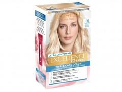 کیت رنگ مو لورال مدل Excellence شماره 01 بلوند پلاتینی