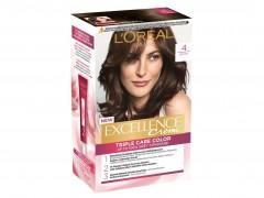 کیت رنگ مو لورال مدل Excellence شماره 4 قهوه ای متوسط