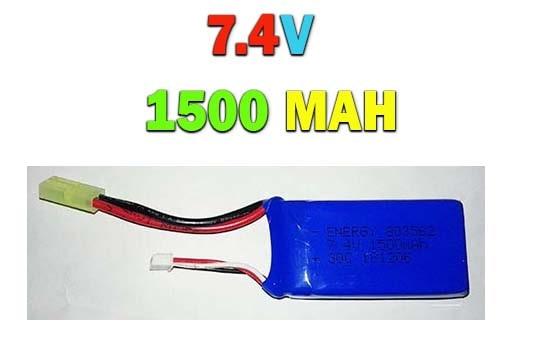 باتری لیتیوم پلیمری 7.4 ولت -1500 میلی آمپر