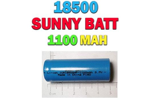 باتری لیتیوم یونی های پاور 18500 با ظرفیت 1100 میلی آمپر -3.7 ولت