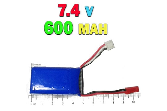 خرید باتری لیتیوم پلیمری 7.4 ولت 600 میلی آمپری