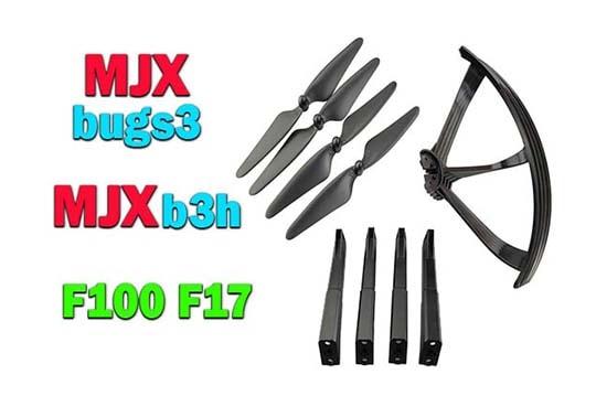 پک کوادکوپتر  MJX BUGS 3  و F100 و F17