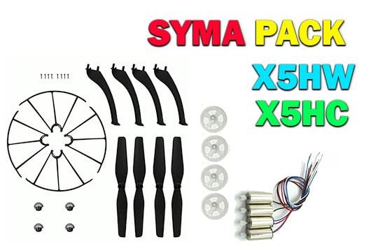پک قطعات یدکی کوادکوپتر سیما syma x5hw-x5hc