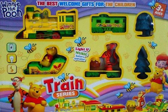 قطار ریلی کارتونی مدل پو