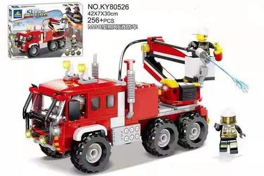ماشین لگویی آتش نشانی 256 تیکه آیتم 80526