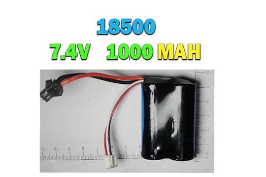خرید باتری لیتیوم یونی 18500 ، 7.4 ولت -1000 میلی آمپر