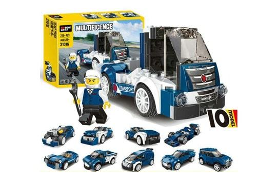 کامیون لگویی بسیار زیبا 216 تیکه آیتم دکول 31016 با قابلیت ساخت 10 مدل