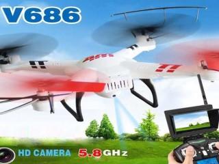 کوادکوپتر  wl-686g با دوربین ارسال تصویر و مانیتور دریافت